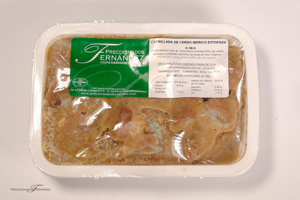 Carrillada de Cerdo Ibérico al Ajillo (Precio 4,72€/Ud.)